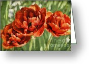 Topaz Greeting Cards - The Triumvirate Greeting Card by Catherine Fenner