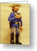 Wood Sculpture Sculpture Greeting Cards - The Trooper Greeting Card by Russell Ellingsworth