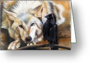 Airbrush Greeting Cards - The Truce Greeting Card by Sandi Baker