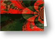 Orange And Green Greeting Cards - The Tube Greeting Card by Carol Groenen
