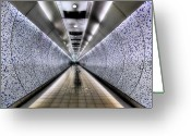 Underground Greeting Cards - The Tube Greeting Card by Evelina Kremsdorf