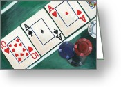 Playing Cards Greeting Cards - The Turn Greeting Card by Debbie DeWitt