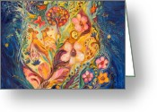 Signed Greeting Cards - The Twilight Time Greeting Card by Elena Kotliarker