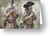 Citizen Greeting Cards - The Two Frontiersmen  Greeting Card by Randy Steele