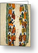 Martyrs Greeting Cards - The Uganda Martyrs Greeting Card by Joseph Kalinda