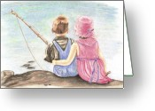 Young Pastels Greeting Cards - The Ultimate Fishing Trip Greeting Card by Russ  Smith