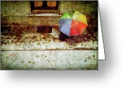 Umbrella Digital Art Greeting Cards - The umbrella Greeting Card by Silvia Ganora