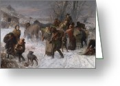 Freedom Painting Greeting Cards - The Underground Railroad Greeting Card by Charles T Webber