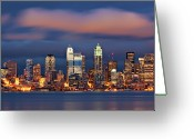 Seattle Waterfront Greeting Cards - The Unexpected Greeting Card by Aaron Reed Photography
