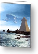 Spacecraft Greeting Cards - The Unguided Greeting Card by Michael Knight