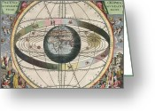 Ptolemaic Greeting Cards - The Universe Of Ptolemy, Harmonia Greeting Card by Science Source