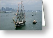 Sailing Ships Greeting Cards - The U.s.s. Constitution Greeting Card by Maria Stenzel