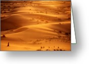 Golden Sand Greeting Cards - The Valley of the Shadow Greeting Card by Skip Hunt