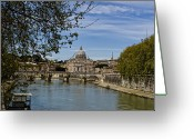 Vatican City Greeting Cards - The Vatican by Day Greeting Card by Michelle Sheppard