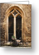Pushbike Greeting Cards - The Vaults Garden Cafe Bicycle in Oxford England Greeting Card by Jay Taylor