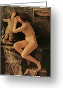 Vedder Greeting Cards - The Venetian Model Greeting Card by Elihu Vedder