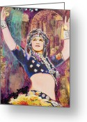 Belly Dance Greeting Cards - The Versatile Dancer Greeting Card by Stephanie Bolton