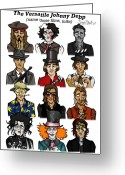 Willy Wonka Greeting Cards - The Versatile Johnny Depp Greeting Card by Sean Williamson