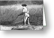 Winslow Homer Greeting Cards - The Veteran In A New Field Greeting Card by Granger