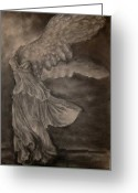 Greek Sculpture Greeting Cards - The Victory of Samothrace Greeting Card by Julianna Ziegler