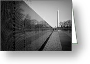 Veterans Greeting Cards - The Vietnam Veterans Memorial Washington DC Greeting Card by Ilker Goksen