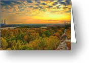 Klondike Greeting Cards - The View From Klondike Overlook Greeting Card by Bill Tiepelman