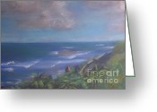 Puerto Rico Pastels Greeting Cards - The View from Old San Juan Greeting Card by Karen Sanabria