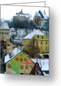 Romania Greeting Cards - The View From the Clocktower Greeting Card by Todd Fox