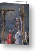 Criminals Greeting Cards - The Vinegar Given to Jesus Greeting Card by Tissot