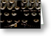 Typewriter Keys Greeting Cards - The Vintage of Language Art  Greeting Card by Steven  Digman