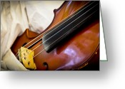 Renaissance Festival Greeting Cards - The Violin Greeting Card by Carolyn Marshall