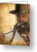 Violinist Greeting Cards - The Violinist Greeting Card by Thanh Thuy Nguyen