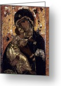 Jesus Greeting Cards - The Virgin Of Vladimir Greeting Card by Granger
