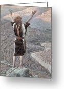 Saint Joseph Greeting Cards - The Voice in the Desert Greeting Card by Tissot