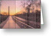 Usn Greeting Cards - The Wall Greeting Card by JC Findley