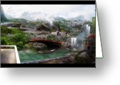 Waterfalls Greeting Cards - The Wall Greeting Card by Karen Koski