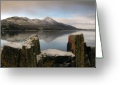 Mist Posters Greeting Cards Greeting Cards - The Wall Greeting Card by Paul  Mealey