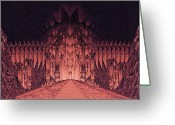 Third Age Greeting Cards - The Walls of Barad Dur Greeting Card by Curtiss Shaffer