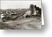 Brewing Greeting Cards - The Wanamie Colliery Lehigh and Wilkes Barre Coal Co Wanamie PA early 1900s Greeting Card by Arthur Miller