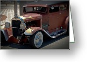Model A Sedan Greeting Cards - The Wanderer Greeting Card by DigiArt Diaries by Vicky Browning