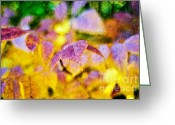 Autumns Mixed Media Greeting Cards - The Warmth of Autumn Glow Abstract Greeting Card by Andee Photography