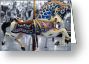 Amusement Parks Greeting Cards - The Warrior Steed Greeting Card by Colleen Kammerer