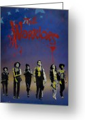 Spraypaint Greeting Cards - The Warriors Greeting Card by Iosua Tai Taeoalii