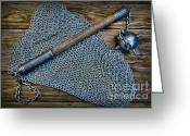 Round Table Greeting Cards - The Warriors Mace Greeting Card by Paul Ward