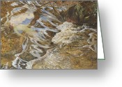 Lake With Reflections Greeting Cards - The Water Sprite Greeting Card by JBL Shaw