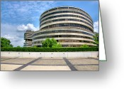 Republican Greeting Cards - The Watergate Hotel I Greeting Card by Steven Ainsworth