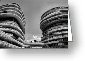 Resignation Greeting Cards - The Watergate Hotel II Greeting Card by Steven Ainsworth