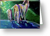 Fine_art Greeting Cards - The Watering Hole Greeting Card by Lance Headlee