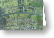Pond Painting Greeting Cards - The Waterlily Pond Greeting Card by Claude Monet