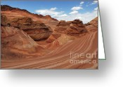 Spectacular Greeting Cards - The Wave Center Of The Universe Greeting Card by Bob Christopher
